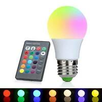 16 Color Changing Magic Light E27 3/5W RGB LED Lamp Bulb + IR Remote Control