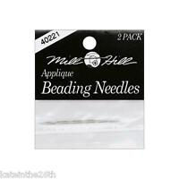 Mill Hill Applique Beading Needles, 2 Applique #10 Needles New In Package.