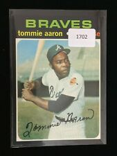 New listing 1971 TOPPS TOMMIE AARON Braves Baseball Card #717 EX/NM