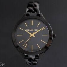 Michael Kors mk3317 Reloj de mujer acero inoxidable color: Negro Oro Amarillo