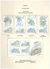Singapore 2004 National Day Monuments 4v tabbed + Minisheet MNH