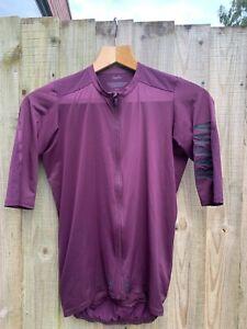 Rapha Mens Pro Team Aero lightweight Cycling Jersey - Dark Purple - Large