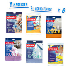 Vileda microfibra polvo, suelo, cocinas, ventanas, antikalk, pad, pañuelos 6er set