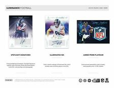 NEW ENGLAND PATRIOTS 2020 PANINI LUMINANCE FOOTBALL 1/3 CASE 4 BOX TEAM BREAK 12