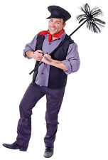 Victoriano deshollinador Fancy Dress Costume Mary Poppins Bert Libro Semana Outfit