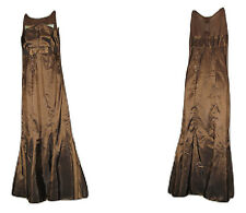 NWOT S NESLAY COLLECTION Brown Bronze Mermaid Event Party Maxi Long Dress