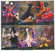 1994 X-Men Fleer Ultra Fatal Attractions Complete insert Set ( 6 cards) NICE!!!!