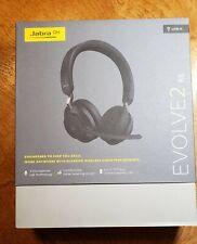 Jabra Evolve 2 65 USB A On the Ear Bluetooth Wireless Headset - Black