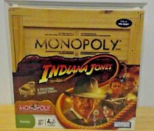 Indiana Jones Monopoly Collectible Wooden Box Board Game New Sealed!