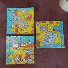 3 VERY RARE 1986 Vintage Rubik's Mice Twisty Puzzle ALL DIFFERENT ~MATCHBOX