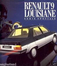 Auto Brochure - Renault - 9 Louisiane - 1985 - Francais French language (AB461)