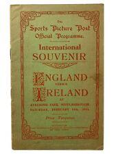 More details for england v ireland 1914 football programme ayresome park middlesbrough