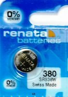 380 RENATA SR936W SR936 WATCH BATTERY New packaging Authorized Seller