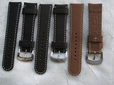 Original ZENO Robusto Fliegeruhrenband ohne Nieten mit Dornschließe