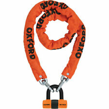 Oxford Heavy Duty Motorcycle Chain Lock 1.5m Orange Steel Motorbike Security
