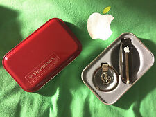 NEW BOXED VINTAGE APPLE COMPUTER INC VICTORINOX SWISS ARMY LOGO CLEAR MINI KNIFE