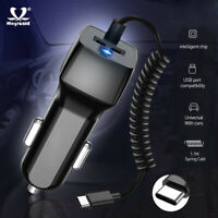 USB Car Cigarette Charger Lighter Fast Charge Type C Cable for Samsung Huawei
