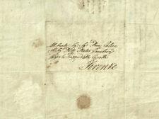 Lettera Inviata da Cortona a Firenze a Pietro Gamberai 1833