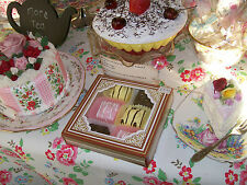 FAKE CAKES X 6 FONDANT FRENCH FANCIES SHABBY CHIC ARTIFICIAL SHOP PROP KITCHEN