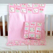 Pink Hello Kitty Cherry Handmade manual Crochet Baby Blanket