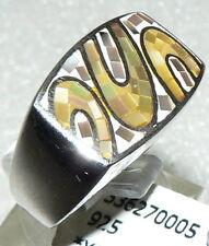 Ring Gr. 56  aus 925 Gold mit Mosaik Perlmut gelb