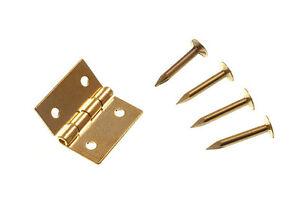 Quantità 100 Mini Ottone Massiccio Cerniere 25MM 2.5cm