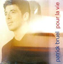 PATRICK BRUEL - Pour la vie PROMO CDS 1TR 1999 CHANSON VERY RARE! SEALED