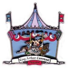 Disney DLR King Arthur Carrousel Mickey Mouse & Minnie Mouse 3D Pin