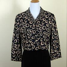 Mollie Parnis vintage 1960s mod cropped graphic geometric print jacket size M/L