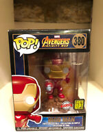 IRON MAN LIGHT UP EXCLUSIVE FUNKO POP MARVEL AVENGERS INFINITY WAR #380