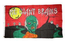 3x5 Halloween Zombie Me Want Brains Flag 3'x5' Brass Grommets