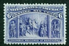 [MD1]   US #235 MNH 1893 Classic 6c 'Columbian Exposition' Stamp...Ships Free!