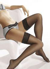 8 Denier Lace Top Sheer Hold Ups - Gatta Michelle 04 Hosiery