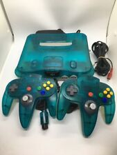 Japanese Ice Blue Nintendo 64 With 2 controllers and wires Amazing US seller