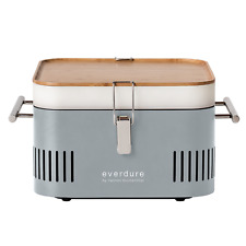 Everdure by Heston Blumenthal CUBE PORTABLE CHARCOAL BARBEQUE Bamboo Tray STONE