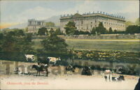 CHATSWORTH  House Postcard nr Bakewell Chesterfield DERBYSHIRE G.W.W. Cow