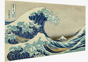 Vintage print art Japanese canvas Big Wave kanagawa Japan painting poster