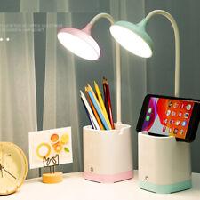 Dimmable LED Desk Table Lamp Reading Light Bedside Power...