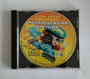 Flash Action Software Multiplication Division (Vintage PC/Mac CD-ROM, 1999)
