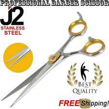 "PROFESSIONAL BARBER SCISSOR J2 STAINLESS STEEL 6.5"" HAIRDRESSING SHEARS STYLING"