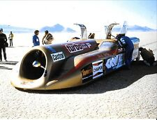 THRUST 2 LAND SPEED RECORD CAR RICHARD NOBLE ON THE SALT LAKE  PHOTOGRAPH LSR