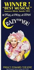 THE NEW GERSHWIN MUSICAL COMEDY CRAZY FOR YOU AT THE PRINCE EDWARD THEATRE(ver2)