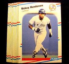 Rickey Henderson  ~ 1988 Fleer #209 ~ LOT OF 20 CARDS = Only 20c per card HOF