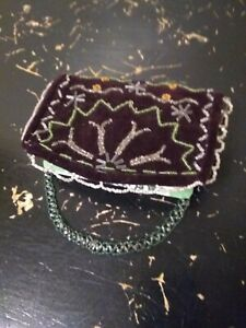Northern Woodlands Whimsy Antique Native American Beaded Bible Cover 1900