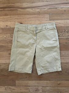 J.Crew Women's Khaki Cotton Bermuda Shorts 2
