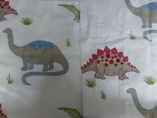 3 Remnants ~ Laura Ashley Blue*Red Dinosaur cotton fabric