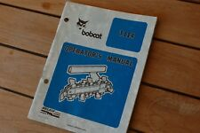 BOBCAT T114 Ditcher Plow Trencher Owner User Safety Operator Manual book 1987