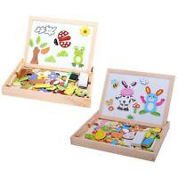Baby Lernspielzeug Staffelei Magnetic Doodle Kinder aus Holz Zeichnung Tafe O2Y2