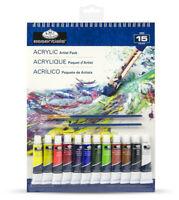 Ensemble Art A4 à Spirale Peinture Acrylique Coussin 12 Tubes De & Brosses RD505