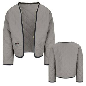 Bulwark Flame Resistant Clothes FR Zip In / Out Modaquilt Liner Grey Uniform